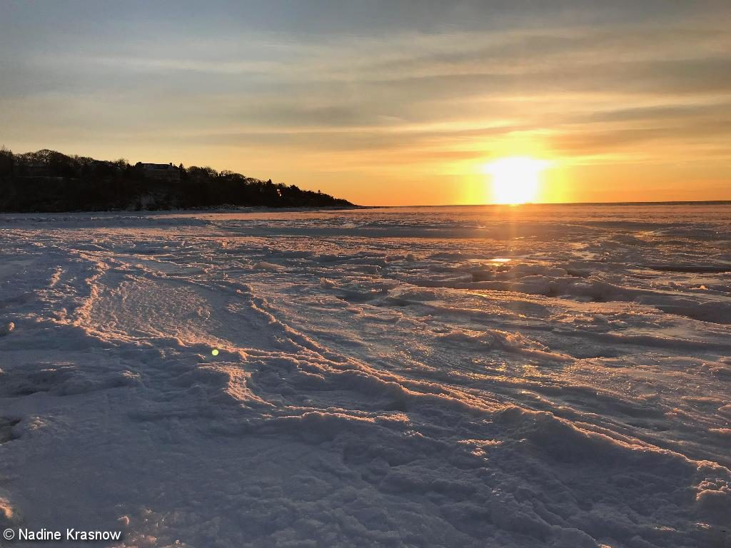 Winter Sunset At Old Silver Beach